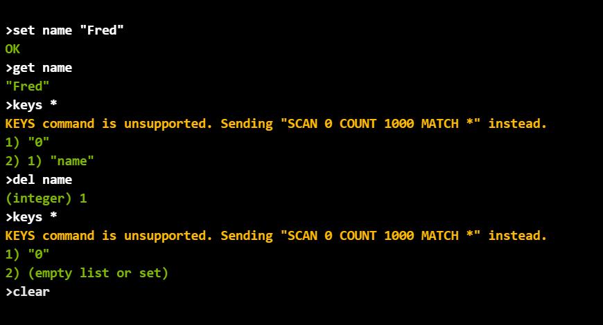 Azure Cache for Redis Console