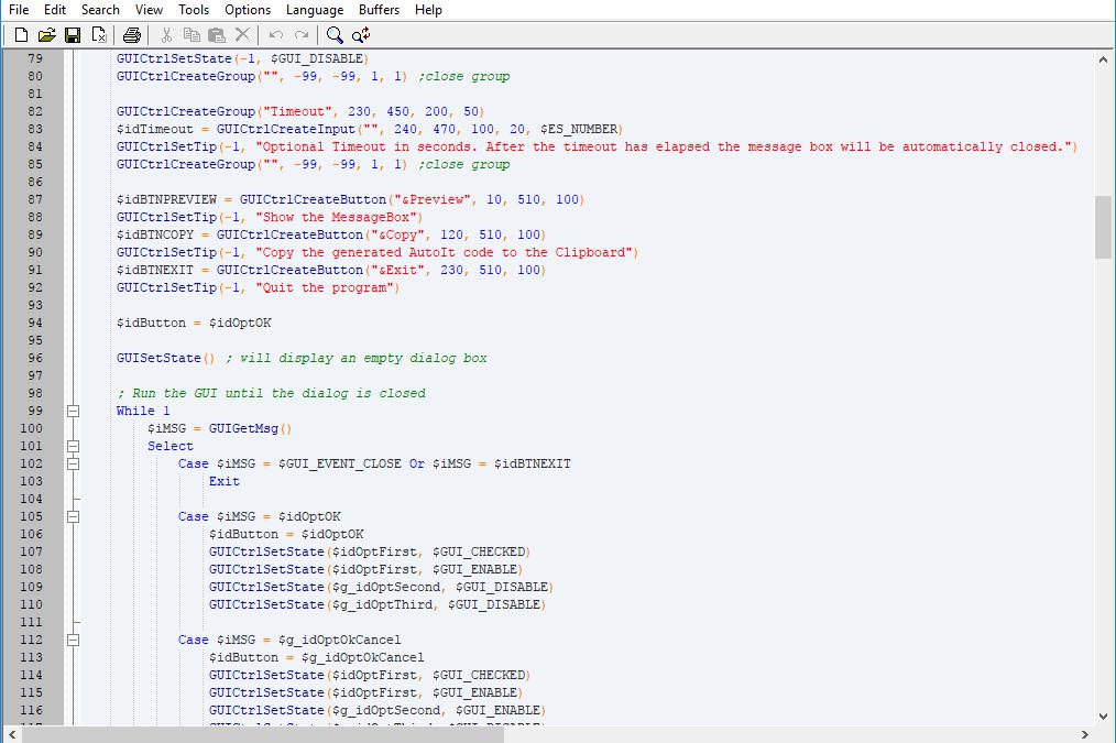 AutoIt Script Editor