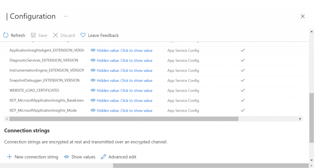 Azure App Service - Configuration